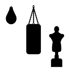a punching bag vector image