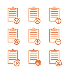 Check list icons line design vector