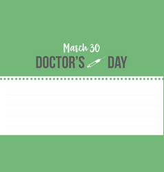 Collection stock doctor day style greeting card vector