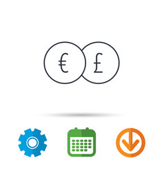 currency exchange icon banking transfer sign vector image