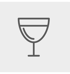 Glass of wine thin line icon vector image