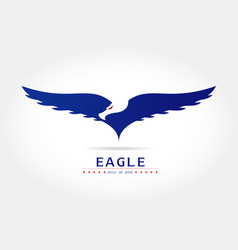 graceful eagle silhouette logo vector image vector image