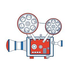 High detailed vintage film projector cinema icon vector