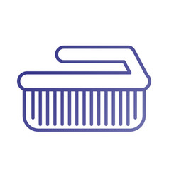 Laundry brush cleaner domestic equipment isolated vector