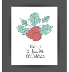 Leaf and berry decoration for Christmas season vector image