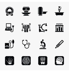 Medical diagnostic icons set vector