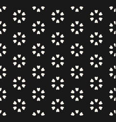 monochrome seamless pattern abstract floral vector image vector image