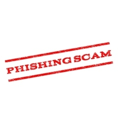 Phishing scam watermark stamp vector