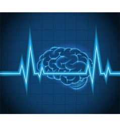 Processes brain of waves the concept idea creative vector image vector image