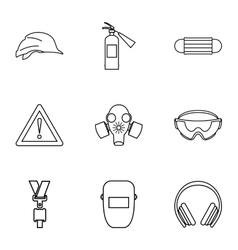 Repair tools icons set outline style vector