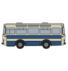 Retro line bus vector