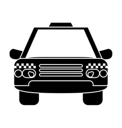 silhouette taxi cab car public transport vector image