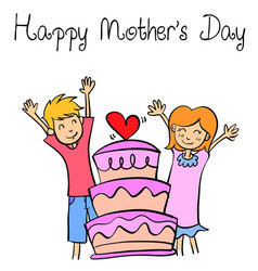 Style of mother day collection vector