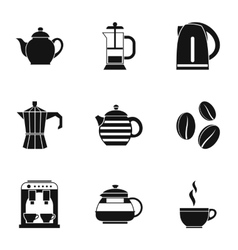 Tea icons set simple style vector image