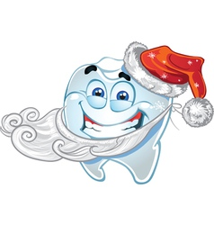 Teeth in suit Santa Claus vector image vector image