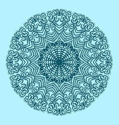 the circular pattern is symmetrical vector image vector image