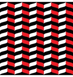 Wavy zig zag seamless pattern red white and black vector