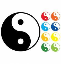 Yin and yang symbol vector