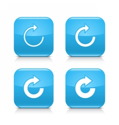 Blue arrow refresh reload rotation repeat icon vector