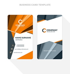 Vertical double-sided business card template with vector