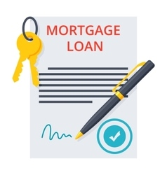 Mortgage loan concept vector