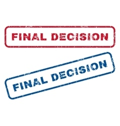 Final decision rubber stamps vector