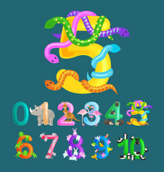 Ordinal number five for teaching children counting vector