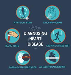 Diagnosing heart disease logo icon design vector