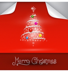Merry christmas theme on red background vector