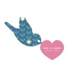Blloming vines stripes birds holding heart vector