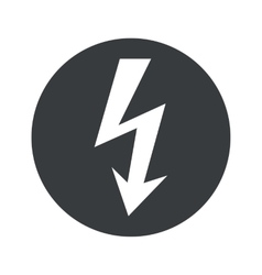 Monochrome round voltage icon vector