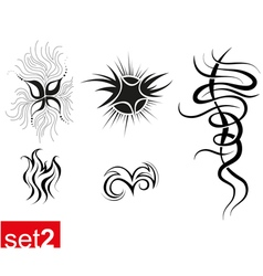 Decorative tribal tattoos set2 vector