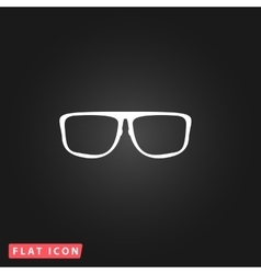 Glasses flat icon vector