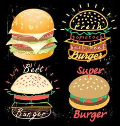 Bright cover for fast food menu vector