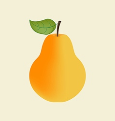 Pear fruit icon vector