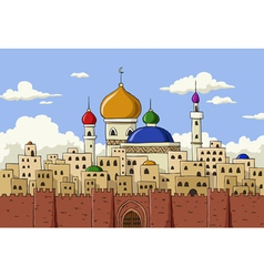 arabic town vector image