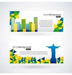 Brazil stamp design vector