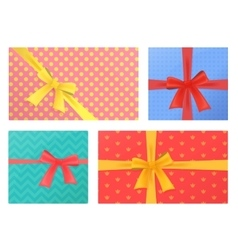 Birthday and christmas holidays wrapped gift vector