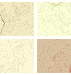 abstract topographic map set vector image