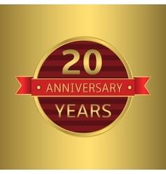 Anniversary 20 years vector