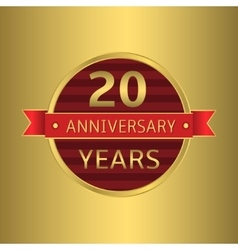 Anniversary 20 years vector image vector image
