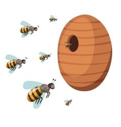 Apiary honey bee house apiary vector