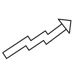 arrow of growth icon vector image vector image