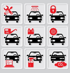 auto repair icons vector image vector image
