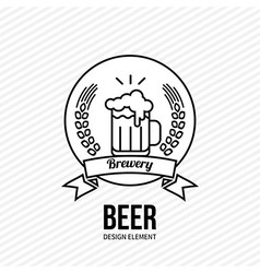Beer and barley emblem vector image