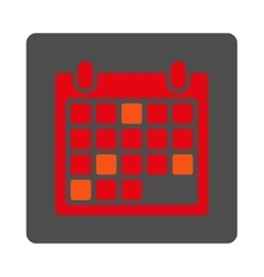Calendar appointment rounded square button vector