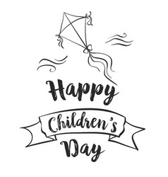 Childrens day doodles vector