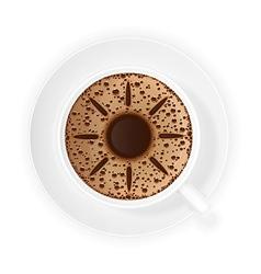 coffee crema 04 vector image