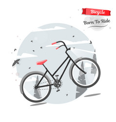 Cycling concept bicycle in nature bright vector