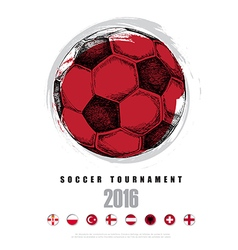 Drawing of soccer background Poster Brochure Logo vector image vector image